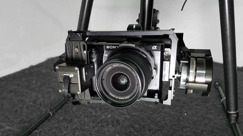 Kamera mit Gimbal für Flugaufnahmen