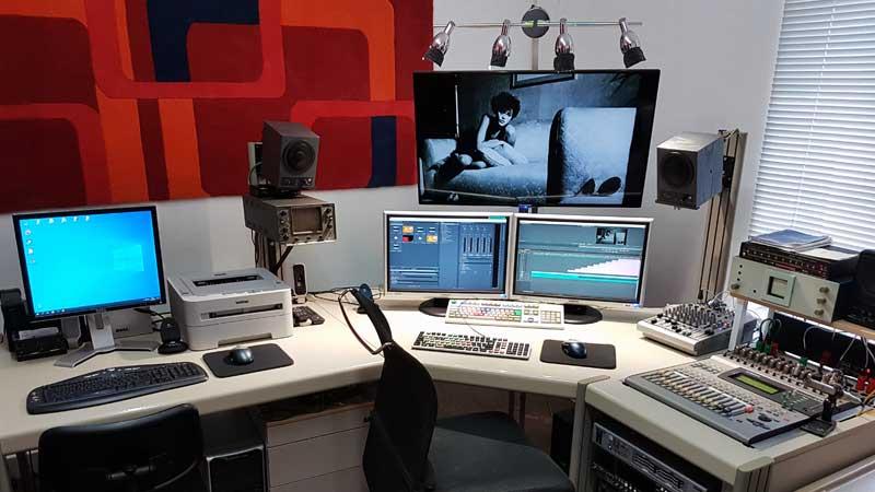 Schnittplatz für Fernsehproduktion in Halle