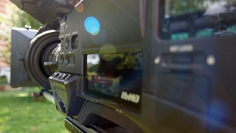 Professionelle Fernsehkamera