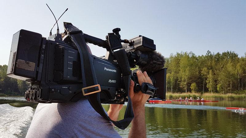 EB-Team Kameramann bei Fernsehproduktion